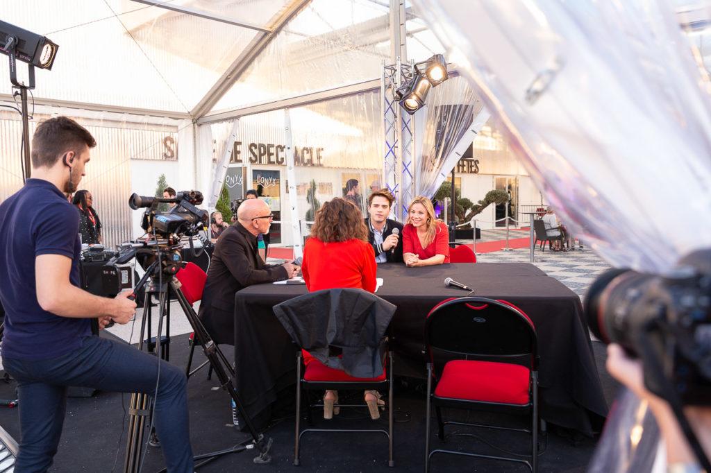2018-09-29 Espace Monestié, Plaisance du Touch Festival International du Film de Fiction Historique,Liam Baty, Maud Baecker, demain nous appartient, Plateau Tv